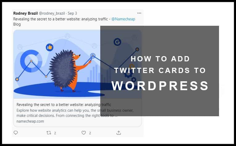 Twitter Cards in WordPress FI
