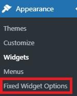 Fixed widget option on WP Dashboard